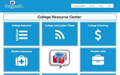 Screenshot of Blog regaalo.com - College Supplies   College Gifts   College Resources    Collegeresources - captured Sept. 17, 2014
