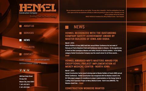 Screenshot of Press Page henkelconstruction.com - News // Henkel Construction - captured June 24, 2016