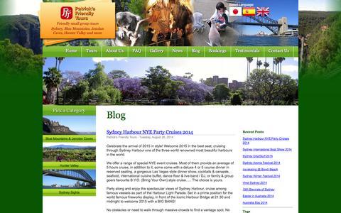 Screenshot of Blog patricksfriendlytours.com.au - Blog - captured Sept. 29, 2014