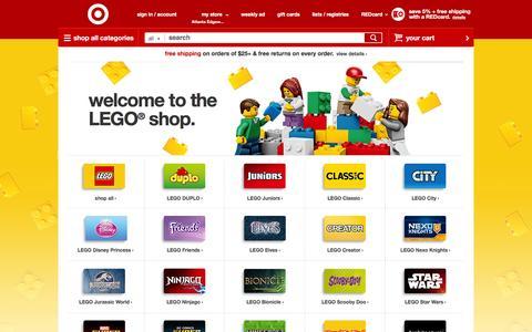 Screenshot of target.com - LEGO : Ninjago, Star Wars, Mindstorms : Target - captured March 20, 2016