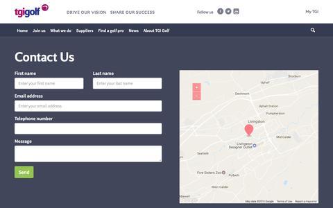 Screenshot of Contact Page tgigolf.com - Contact Us - captured Dec. 19, 2016