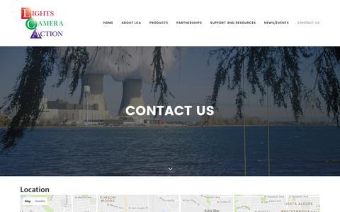 Screenshot of Contact Page lights-camera-action.net - Contact us - Lights Camera Action - captured Nov. 8, 2016