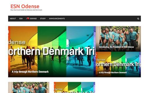 Screenshot of Blog esnodense.dk - ESN Odense – Your Survival Guide to Odense and Denmark - captured May 13, 2017