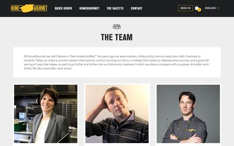 Screenshot of Team Page homegourmet.ch - Homegourmet - A catering service and a passionate team - HomeGourmet - captured July 15, 2016