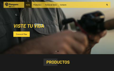 Screenshot of Home Page pamperousointensivo.com.ar - Pampero - Uso Intensivo - captured Sept. 26, 2018