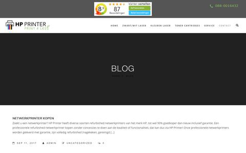 Screenshot of Blog hp-printer.eu - Blog - HP printer - captured Sept. 16, 2017