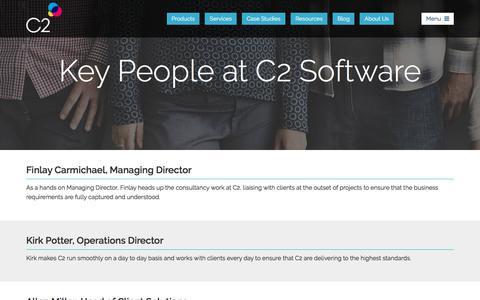 Screenshot of Team Page c2software.com - Key people at C2 Software - captured July 14, 2018