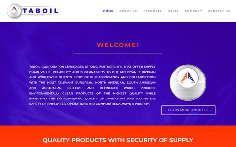 Screenshot of Home Page taboilcorporation.com - TABOIL CORPORATION LLC - OIL & GAS INDUSTRY - Home - captured Nov. 15, 2018