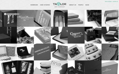 Screenshot of Case Studies Page taylorbox.com - Taylor Box Company: Custom Box and Specialty Packaging Case Studies - captured Oct. 26, 2014