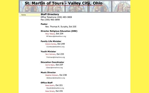 Screenshot of Contact Page stmartinvc.org - St. Martin Catholic Church - Valley City, Ohio - captured May 14, 2016