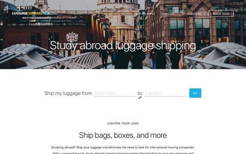 Study Abroad Luggage Shipping - Ship Luggage Abroad
