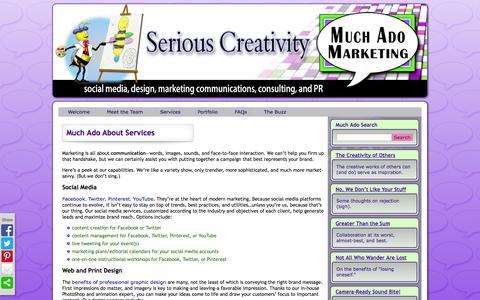 Screenshot of Services Page muchadomarketing.com - Much Ado About Services | Much Ado Marketing - captured Nov. 5, 2014
