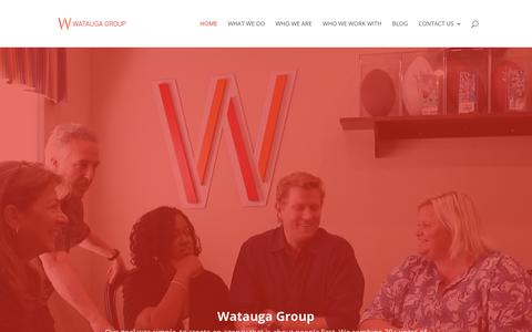 Screenshot of Home Page wataugagroup.com - Media Agency - The Watauga Group - Atlanta, Orlando, Birmingham - captured Nov. 7, 2018