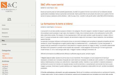Screenshot of Blog sc-consulenza.it - Blog - captured Feb. 2, 2016