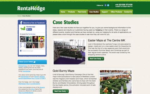 Screenshot of Case Studies Page rentahedge.com - Projects & Case Studies   Hedging & Plant Hire Solutions   Rent a Hedge - captured Oct. 7, 2014
