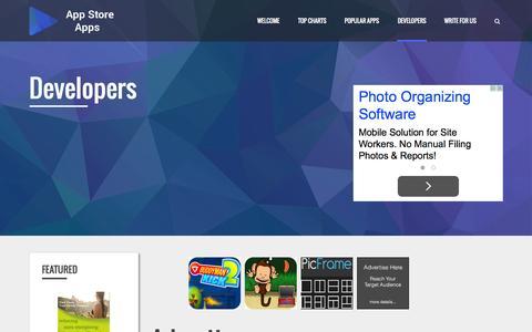 Screenshot of Developers Page appstoreapps.com - Developers - App Store Apps - captured Sept. 26, 2015