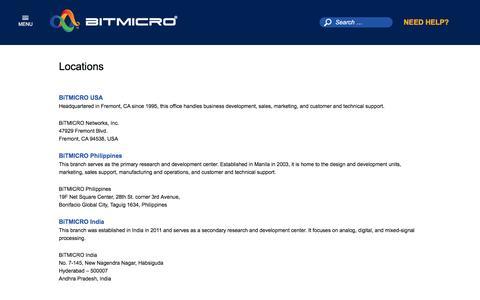 Screenshot of Locations Page bitmicro.com - Locations - BiTMICRO - captured Dec. 4, 2015