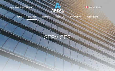 Screenshot of Services Page areal.ca - Areal | Premiere Canadian Janitorial Service | Areal - captured Oct. 24, 2018
