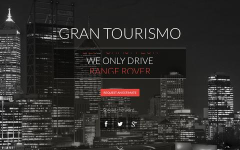Screenshot of Home Page grantourismo.com.au - Gran Tourismo Range Rover - Perth's best chauffeured car service - captured Oct. 3, 2014