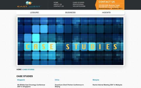 Screenshot of Case Studies Page eastwestplanners.com - All Case Studies - captured Oct. 1, 2014