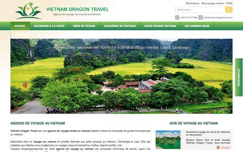 Screenshot of Home Page agence-voyagevietnam.com - Agence de voyage au Vietnam, Agence locale francophone Hanoi - captured Feb. 2, 2018