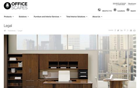 Screenshot of Terms Page officescapes.com - Legal - OfficeScapes | Colorado, Denver, Boulder, Colorado Springs, Fort Collins, Wyoming, Front Range - captured Aug. 12, 2016