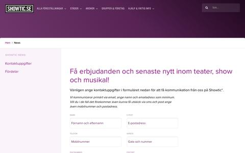 Screenshot of Press Page showtic.se - News - Showtic - captured Sept. 20, 2018