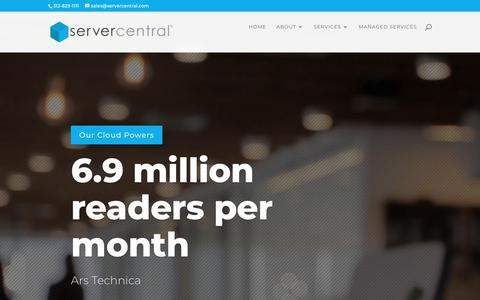 Screenshot of Home Page servercentral.com - Home | ServerCentral - captured June 18, 2018