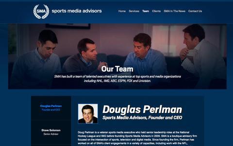 Screenshot of Team Page sportsmediaadvisors.com - Sports Media Advisors   Our Team - captured Sept. 30, 2014