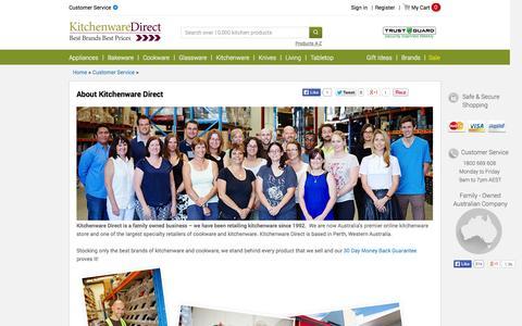 Screenshot of About Page kitchenwaredirect.com.au - Kitchenware Direct Australia - About Us - captured Sept. 19, 2014