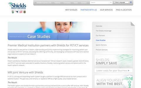 Screenshot of Case Studies Page shields.com - Case Studies   Shields Health Care Group - captured Oct. 30, 2017