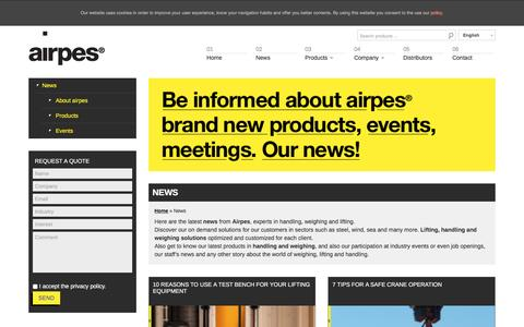 Screenshot of Press Page airpes.com - News | Airpes : airpes - captured May 31, 2017