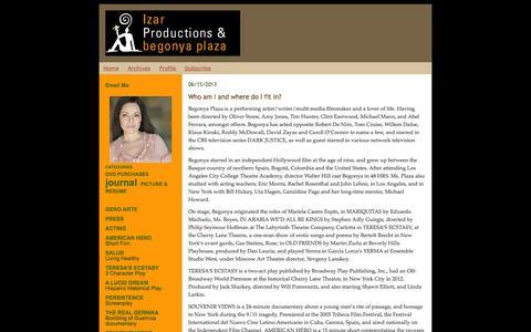 Screenshot of Home Page izarproductions.com - www.izarproductions.com - captured Sept. 30, 2014
