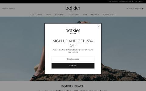 Screenshot of Home Page botkier.com - Shop Designer Leather Handbags, Shoes & Accessories | Botkier - captured July 13, 2018