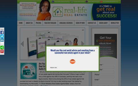 Screenshot of Home Page rlretraining.com - Real Life Real Estate Training - captured Sept. 11, 2015