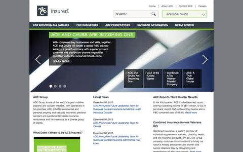 ACE Group: One of the World�s Largest Multiline Property and Casualty Insurers