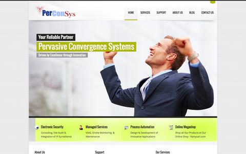 Screenshot of Privacy Page perconsys.com - Pervasive Convergence Systems Pvt. Ltd. (Perconsys)-Home Page - captured Oct. 1, 2014