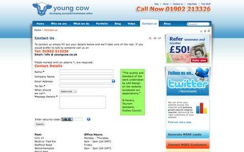 Screenshot of Contact Page lasdesign.net - Contact a professional Web Design Company   Contact a web design Company Now West Midlands UK - captured Sept. 26, 2014