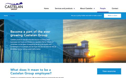 Screenshot of Team Page castelangroup.com - Become a part of the ever growing Castelan Group | Castelan Group - captured July 16, 2018