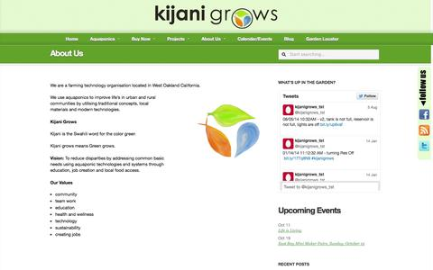 Screenshot of About Page kijanigrows.com - About Us »  Kijani Grows : Urban Garden Systems - captured Oct. 8, 2014