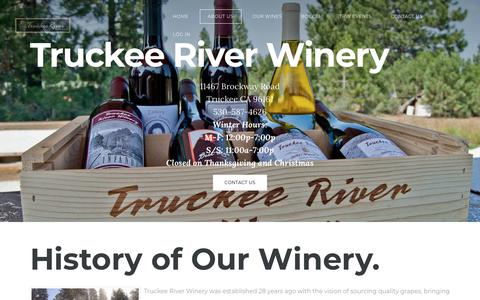 Screenshot of About Page truckeeriverwinery.com - About Us - HIGHEST AND COLDEST AND SNOWIEST - captured Nov. 22, 2018
