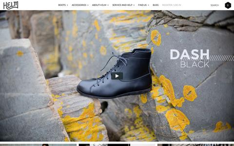 Screenshot of Home Page helmboots.com - HELM Boots - Made in the US - captured Nov. 4, 2015