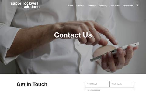 Screenshot of Contact Page rockwellsolutions.com - Rockwell Solutions Contact - captured May 30, 2019