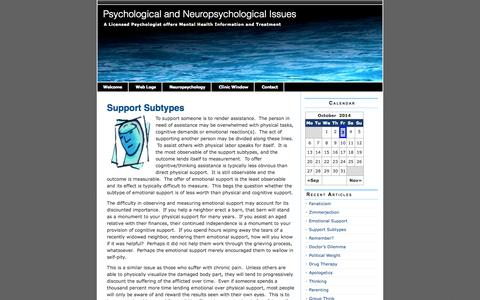 Screenshot of Support Page orlandopsych.com - Support Subtypes | Psychological and Neuropsychological Issues - captured Oct. 3, 2014