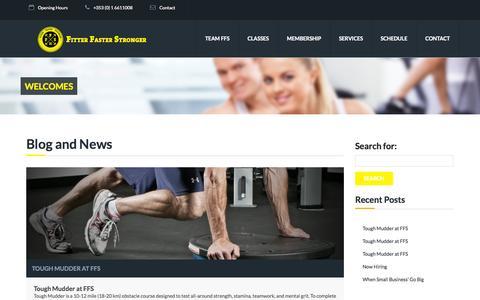 Screenshot of Blog ffs.ie - Blog - Fitter Faster Stronger   FFS.ie - captured Oct. 6, 2014