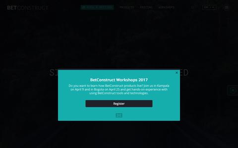 Screenshot of Home Page betconstruct.com - Serge says... - captured April 3, 2017