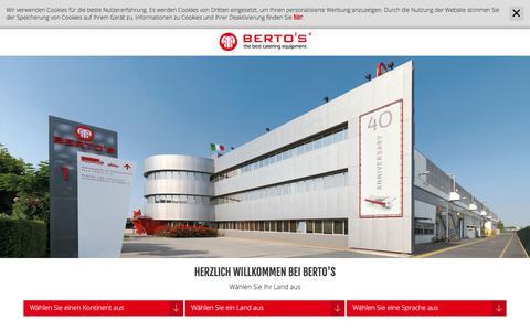 Screenshot of Site Map Page bertos.com - Sitemap - Industrieküchen - Berto's - captured Feb. 10, 2018