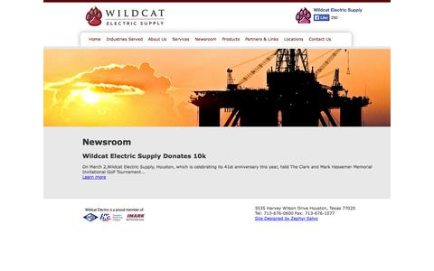 Screenshot of Press Page wildcatelectric.com - Wildcat Electric Supply Houston, TX | Newsroom - captured Oct. 7, 2014