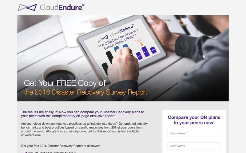 Cloud Disaster Recovery Survey 2016