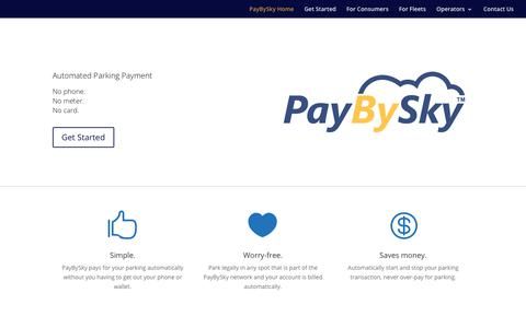 Screenshot of Home Page paybysky.com - PayBySky | - captured Jan. 12, 2018